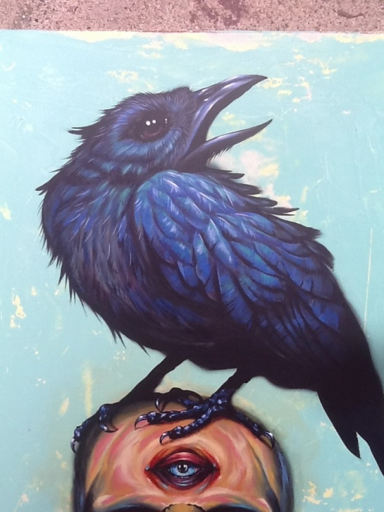 Close up of raven